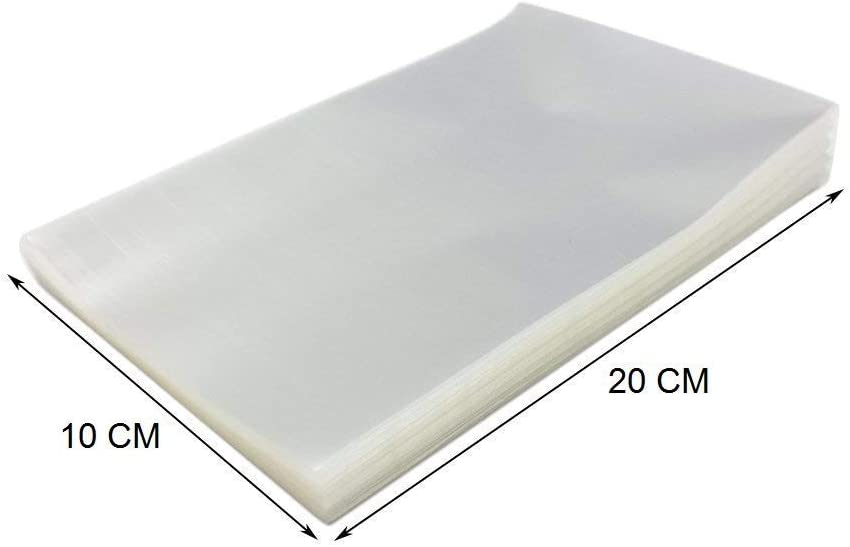 1000bolsas transparentes de 10x 20cm para helados de palo, sobre de polipropileno para helados de tipo Magnum y otros