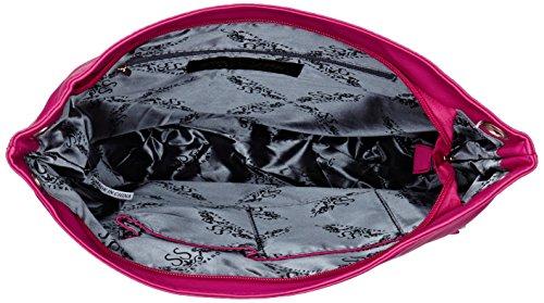 SwankySwans - Eva Zipper Messenger School Pu Leather, Borsa a tracolla Donna Pink (Fuschia)
