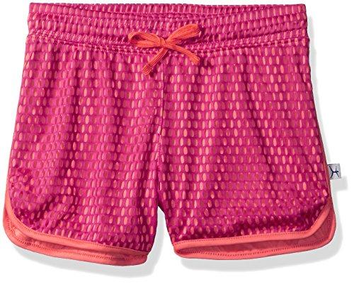 Danskin Big Girls' Dual Color Epic Mesh Short, Vibrant Rose/Living Coral, (Wicking Mesh Short Color)