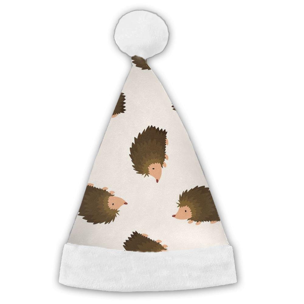 ChengGo Hedgehog Animals Naughty Santa Hat  Resists Wrinkles For Boy Elf Christmas Hates Romantic