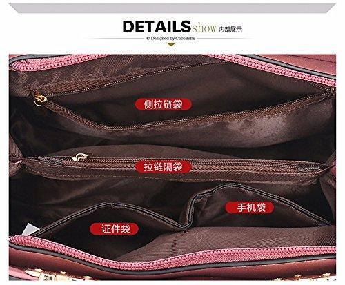 de púrpura Moda de Hombro Rosado CCZUIML la Bolso Bag B de Nuevo Mujeres Las wPq60xRpxX