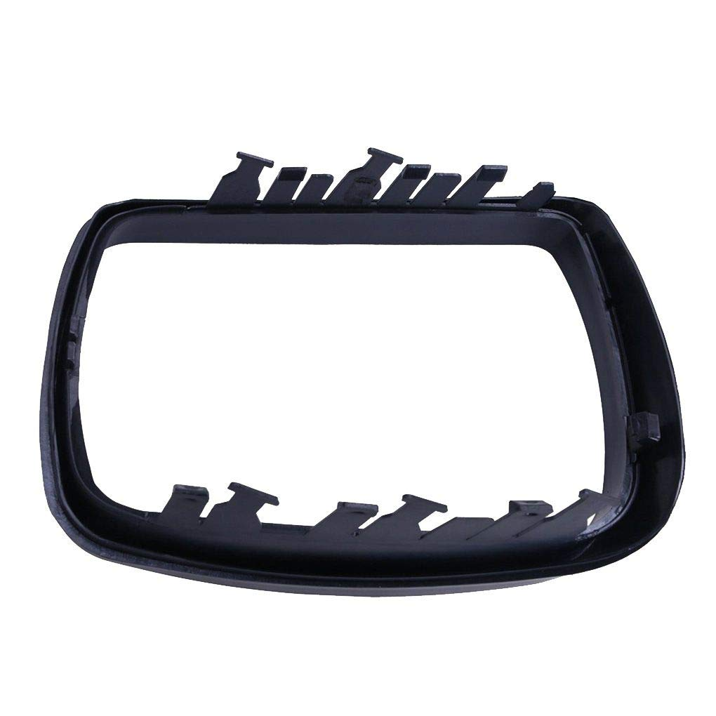 51168254903 Left Side Plastic Car Rearview Mirror Frame Cover Trim Ring Replacement for BMW E53 X5 00-06