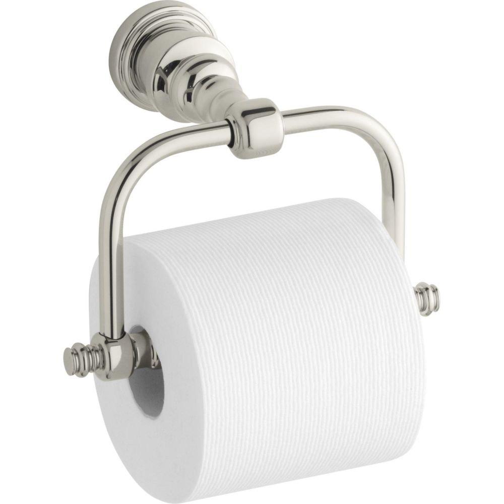KOHLER K-6828-SN IV Georges Brass Horizontal Toilet Tissue Holder, Vibrant Polished Nickel