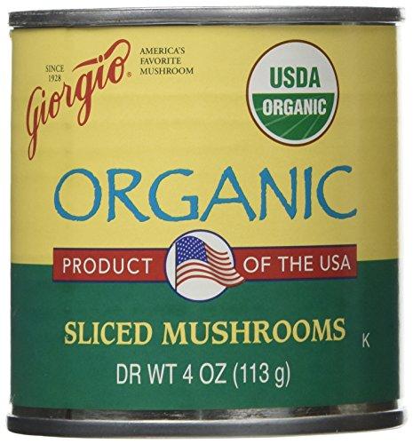 Mushroom Bacon Quiche - Giorgio Sliced Mushrooms Organic 12/4 Oz. Cans USA Product
