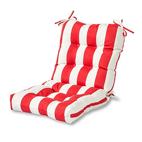 Outdoor Seat/Back Combination Chair Cushion, Cabana Stripe R