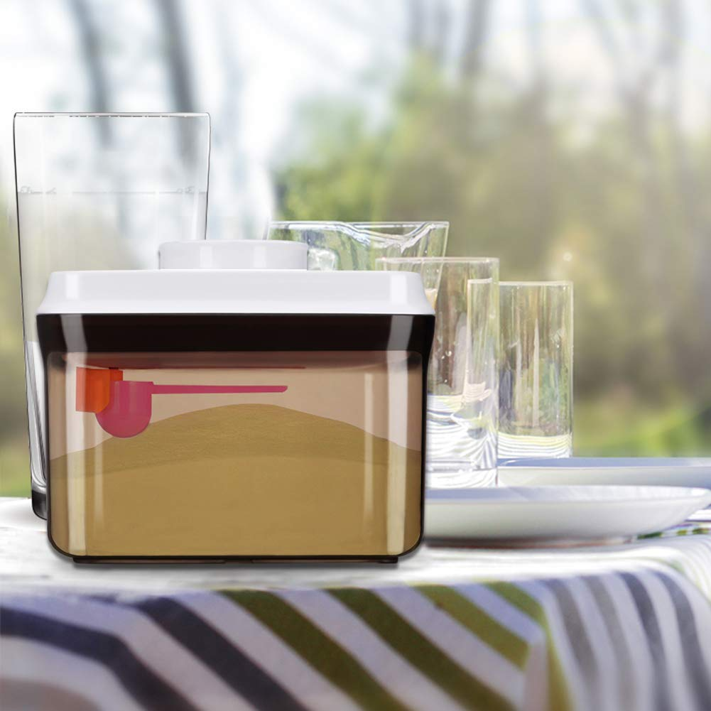 Contenant De Poudre De Lait Sans BPA,Conteneur Alimentaire Scell/é Portable Pour Le lait En Poudre Distributeur De Poudre De Formule Les Collations Et Les C/ér/éales