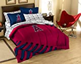 MLB Los Angeles Angels Full Bed in a Bag with Applique Comforter