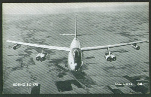 Stratojet Bomber (Boeing BG-47B Stratojet bomber arcade card 1950s)