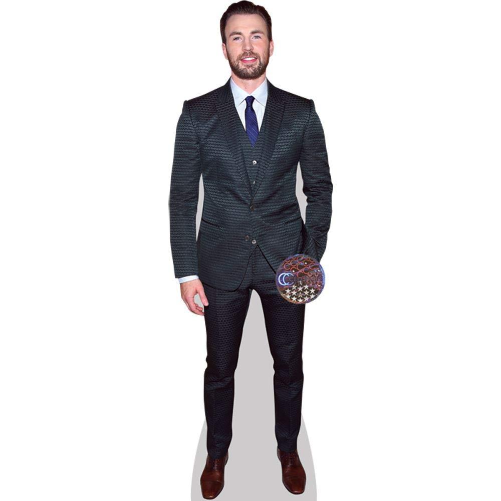 a grandezza naturale Chris Evans Green Suit