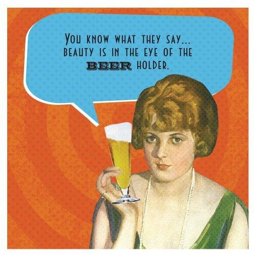 Funny IMproper Greeting Beverage Napkin-Beer