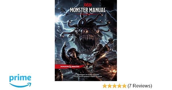 Amazon Com Dungeons Dragons D D Monster Manual D D Core