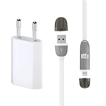 Electraline 92284 Cable de Datos y Carga Lightning 1.5 m con ...
