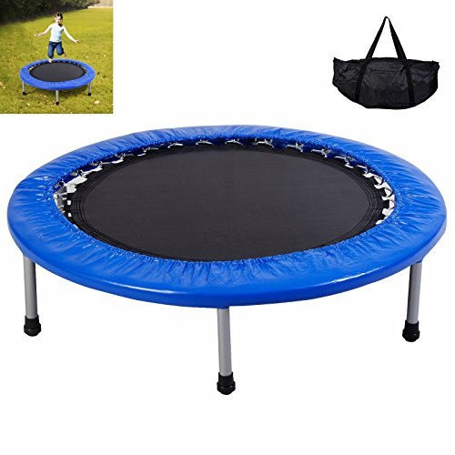 Eosphorus Kids Foldable Mini Trampoline 38'' Band Jumping Mat Safe Elastic Exercise Workout w/Padding Springs by Eosphorus