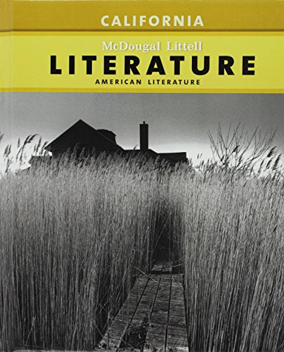McDougal Littell Literature: Pupil's Edition American Literature CA 2009