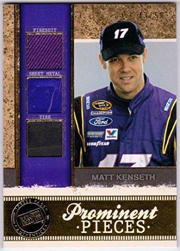 MATT KENSETH 2011 Legends Prominent Pieces Gold Tire Firesuit Sheet Metal /50