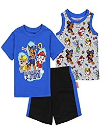 Nickelodeon/Paw Patrol Paw Patrol Toddler Boys' 3PC Short Set, Blue/Gray
