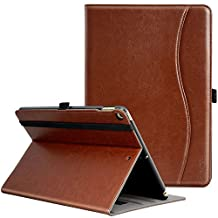 New IPad 9.7 inch 2018/2017 Case, Ztotop Premium Leather Business Slim Folding Stand Folio Cover with Auto Wake/Sleep,Pencil Holder and Multiple Viewing Angles, Brown