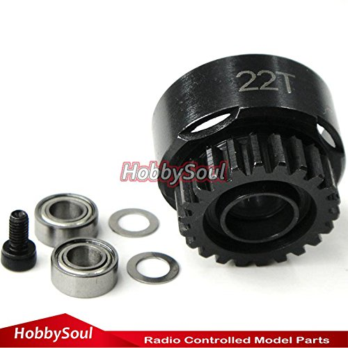 22T super vented racing Clutch Bell w/Bearings RC Parts hobbysoul