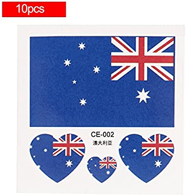 54105ce17 Temporary Tattoos National Flags, Waterproof & Non-toxic, 2018 World Cup  Flag Face Body Tattoos Stickers National Flag Sticker, 32 Countries Heart  Shaped, ...