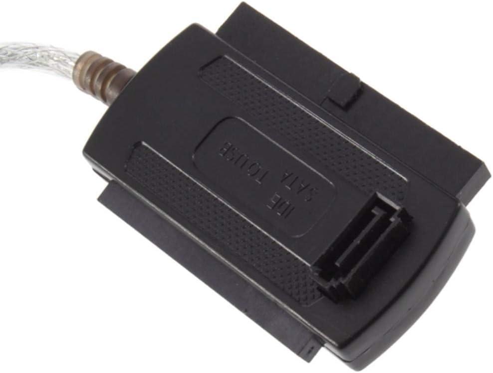 Davitu Connectors New USB 2.0 to IDE SATA 5.25 S-ATA//2.5//3.5 Adapter Cable 100/% Brand New