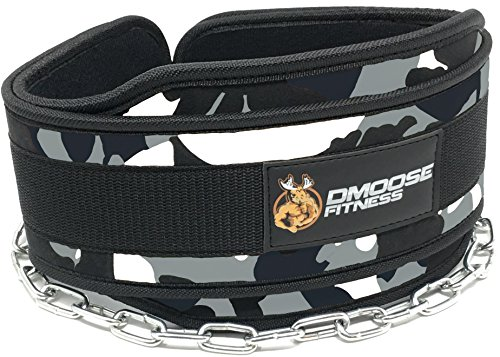 Premium Dip Belt with Chain by DMoose Fitness - 36