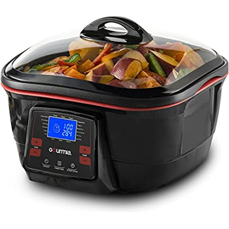 Gourmia GMC780 18 In 1 Multi Cooker With LCD Display Deep Fry Steam Bake Roast Saute More Free Recipe Book Fondue Accessories Included