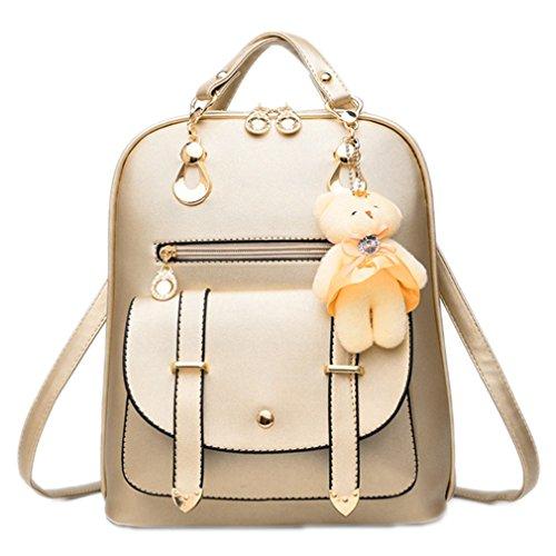 Las mujeres mochila de cuero pu mochilas mujer adolescente niñas bolsas Mochila escolar femenina famosa Mochila Rosa Gold