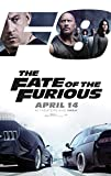 FATE OF THE FURIOUS (2017) Original Authentic Movie Promo Poster 11x17 - Vin Diesel - Dwayne Johnson - Jason Stathan - Kurt Russell