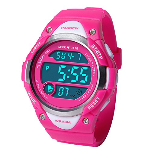 HIwatch Kids Sport Watch Water-Resistant Swimming LED Digital Watch with Alarm Back Light Stopwatch for Girls 7+ Years Old, for School Student