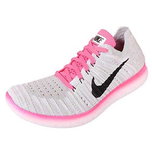 Nike Free Rn Flyknit Mtlc (gs) Bianco / Nero-rosa Grigio Pow-lupo