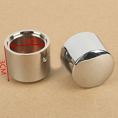 [Chrome Front Axle Nut Cover Bolt For Harley Touring Softail Road King Glide FLTR] (Headset Top Nuts)