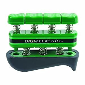 Digi Flex Green Hand and Finger Exercise System, 5 lbs Resistance