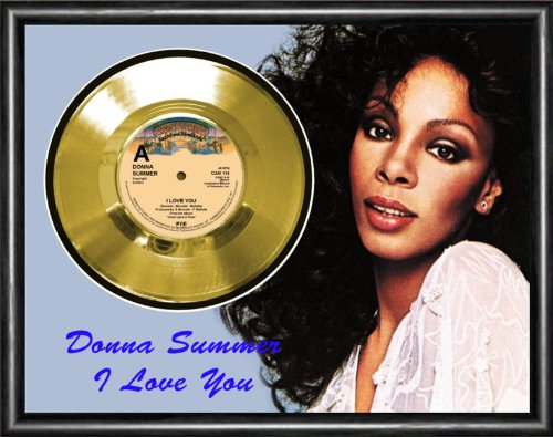 Donna Summer I Love You Gold Vinyl Record Framed Display