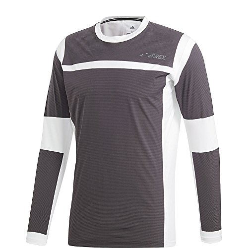 adidas outdoor Mens Terrex Agravic Hybrid Long Sleeve (S - White/Black)