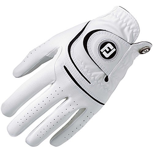 (Small, White Left Hand Cadet) - FootJoy WeatherSof Men's Golf Glove (Fits on RH) White M/L   B01MA490HU