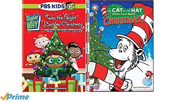 amazoncom reading holiday adventures pbs super why twas the night before christmas dr seuss the cat in the hat knows a lot about christmas - Twas The Night Before Christmas Movie