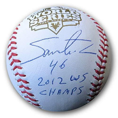 Santiago Casilla Autographed Baseball - 2002 World Series Angels COA - Autographed ()