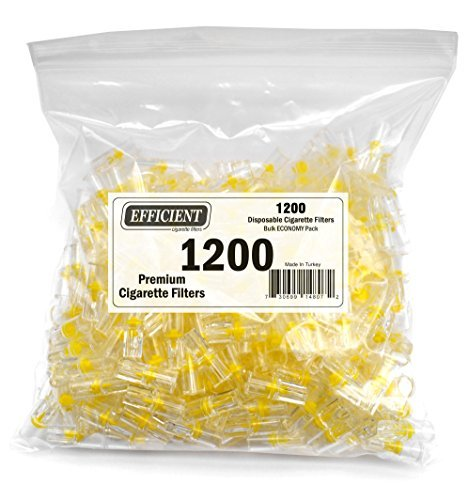Efficient Cigarette Filters Bulk Economy Pack (Total 1200 Filters), In a convenient resealable bag. by - Filters Economy