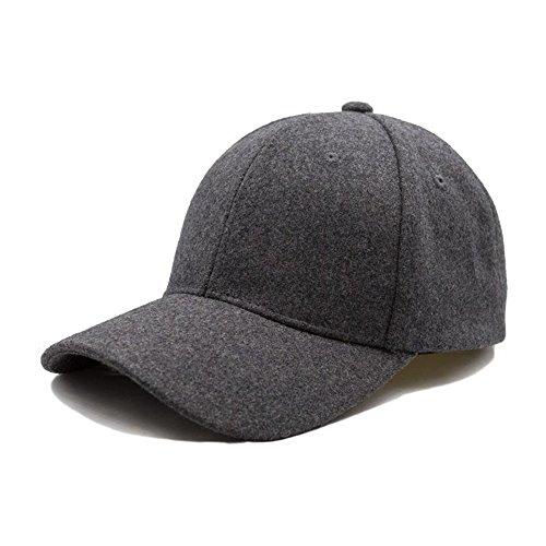 Top Crown Clothing 100% Wool Blank Adjustable 6 Panel Structured Baseball Dad Cap With Leather Rear Strap With Gold Plated Buckle
