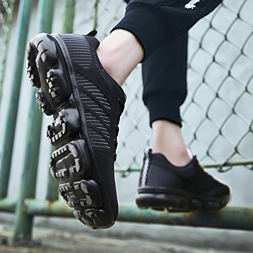 Respirante Légère Sport Avec De Outdoor Homme Bulle Course Jogging Loisir Sneaker Textile Blanc Chaussure Coussin Noir Running OxqOz4p16