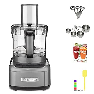 Cuisinart FP-8GM Elemental 8 Cup Food Processor (Gunmetal) with Kitchen Accessory Kit