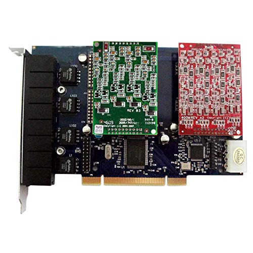 FXO FXS Card with 4 FXO+4 FXS Ports,PCI,Compatible with Asterisk,Issabel,FreePbx FXO VoIP PBX SIP Phone System