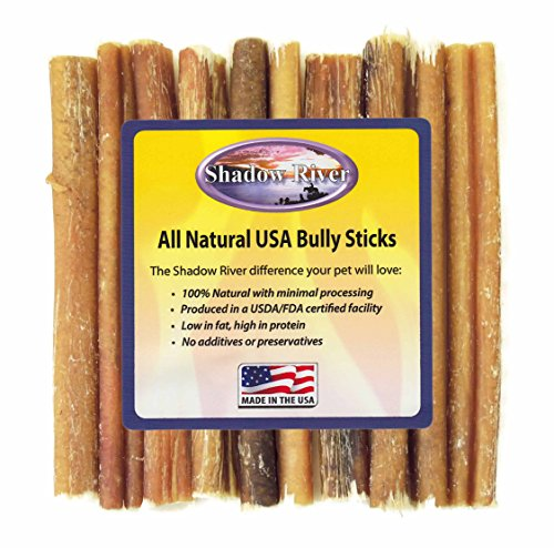 10 pack 6 inch regular bully sticks by shadow river product of the usa bulldogbackyard. Black Bedroom Furniture Sets. Home Design Ideas