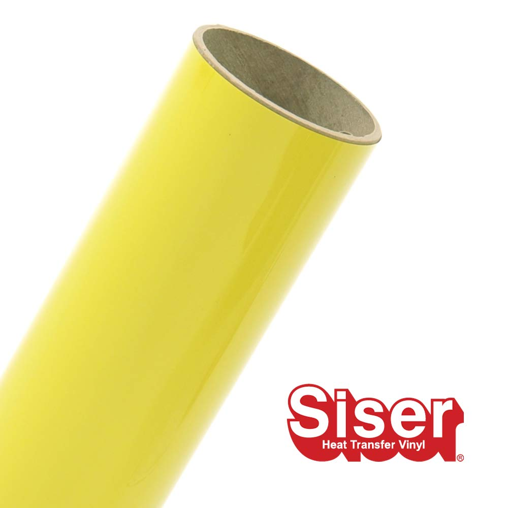 Siser EasyWeed HTV 11.8'' x 15ft Roll - Iron on Heat Transfer Vinyl (Lemon)