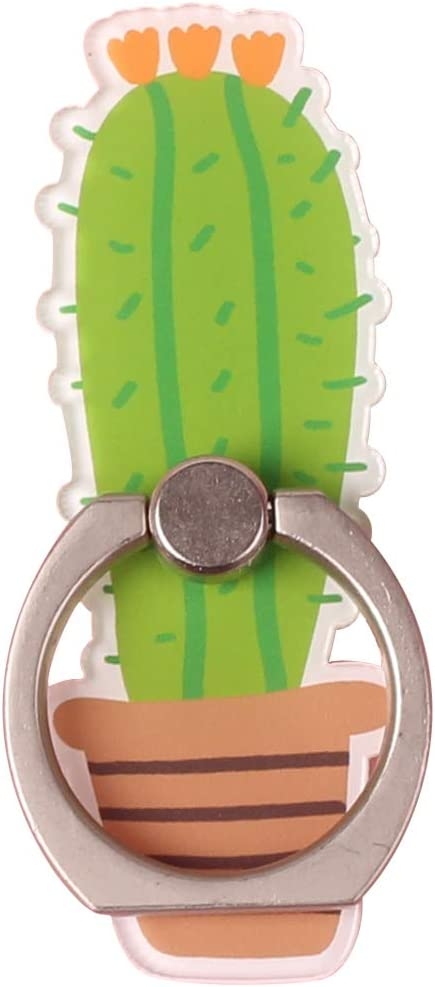 Tablet by UnderReef Cell Phone Finger Ring Holder Cute Cactus Plants Universal Phone Stand 360 Swivel Grip for iPhone Ipad Samsung HTC Nokia Smartphones