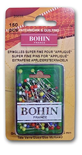 Bohin Glass Head Applique Pins, 150 Per Pack - Head Applique