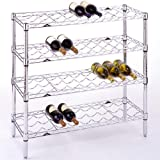 InterMETRO 36 Bottle Wine Rack, Chrome