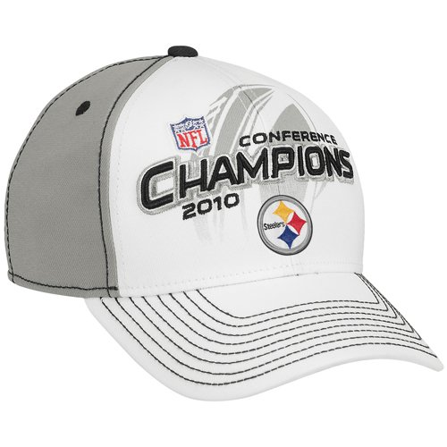 Pittsburgh Steelers 2010 / 2011 AFC Conference Champions w/ Super Bowl 44 Logo Locker Room Champs Hat / Cap