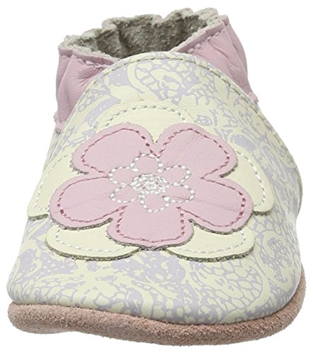 Robeez Miss Flower - Zapatillas de casa Bebé-Niños Weiß (BLANC CASSE)