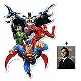 Fan Pack - Justice League Heroes (Batman, Superman, The Flash, Green Lantern) DC Comics Cardboard Cutout Wall Art Includes 8x10 (20x25cm) Photo